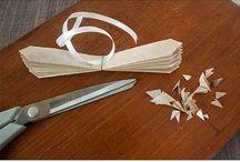 Flores y mariposa de papel