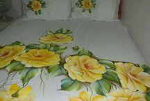 jogo de cama pintado
