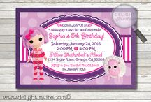 Pillow Featherbed Lalaloopsy Invitation Set!