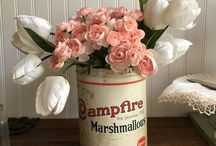 Campfire Marshmallows Vintage Tins / Campfire Marshmallows were once sold in tin canisters, now they are making a comeback in home decor!