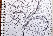 Swirls and feathers