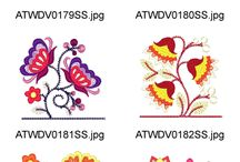 embrodery about flowers