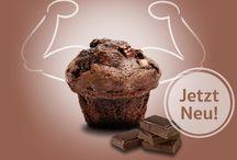 Protein Muffin / Hier findet ihr ein paar Anzeigen zu den Protein Muffins in den Geschmacksrichtugen: BLACK POWER, Himbeerkraft und BACON POWER. Alles von herzhaft bis süß. Entwickelt wurde das Anzeigenmotiv von der bachimpuls Werbeagentur.