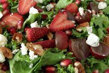 Ensaladas y frutas
