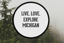 """Live, Love, Explore Michigan / Being born and raised in the """"Mitten State,"""" it is no surprise that we happen to be quite fond of our homeland. In fact, we even roasted a coffee to encapsulate the true essence of its beauty. This board is a collection of reasons to live, love, and explore Michigan."""