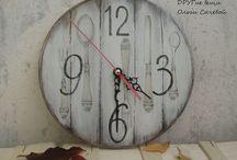 Декупаж / Часы, картинки, декупаж