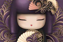 Kokeshi / Деревянные куклы кокеши и киммидолл.  Абсолютная грация, гениальная простота и невообразимый полет фантазии.  Неизменный вкус к созданию шедевра.  Япония, одним словом.