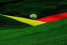 Franco Fontana e la colorazione geometrica nel rullino