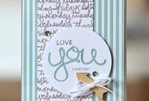 Stampin Up Crazy About You / Cards created using Stampin Up Crazy About You stamps & Hello You Thinlets