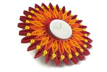 quilled candle holder
