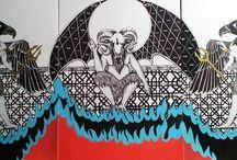"""La divina comedia. El infierno de dante. / Ilustraciones sobre los distintos fosos que dante diferencia en su descripción del infierno en la obra """"la divina comedia""""."""