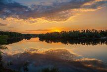 Река,озеро пейзаж