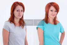 (Nie) Na wymiar / Cieniowanie z dekonstrukcją w długościach to zastrzyk energii dla delikatnych, długich fryzur. Dwuwymiarowość tej fryzury polega na pozostawieniu długich włosów z tyłu i wycieniowaniu na koronie głowy. Ukryty undercutting uzyskacie, skracając włosy po bokach. W ten sposób otrzymacie dwie propozycje jednego strzyżenia: casualowy zaczesany na gładko i odważny undercut.  Kategoria: Strzyżenie damskie Technika: Cieniowanie z undercutting'iem i dekonstrukcją w długościach Edukator: Sławek Kublin