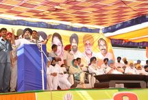 "Public Rally at Maur / Punjab Chief Minister Parkash Singh Badal called upon the people to give a befitting reply to the ""discriminatory and apathetic attitude"" of the Congress-led UPA Government by showing them the door to install the NDA Government at the Centre for heralding a new era of prosperity and overall development in the country in general and Punjab in particular."