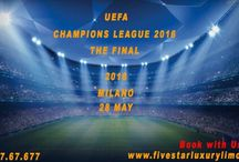 CHAMPIONS LEAGUE ITALY 2016 / Book your car with FIVESTAR LUXURY LIMOUSINE