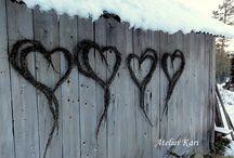 Vinter dekorasjon utendørs