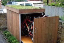 gudang dan tempat sepeda