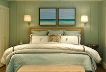 Master Bed / Coastal classy relaxing retreat  / by Hollie Hart