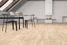 Imitation wood tiles / Keramik i naturtrogen träimitation.