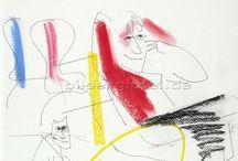 """Schwabinger Kunstpreis für Cornelia von Seidlein / Gratulation! Wir freuen uns, dass die Bildergipfel-Künstlerin Cornelia von Seidlein den Schwabinger Kunstpreis 2014 erhält. Verdient! Finden auch wir. Aus der Jurybegründung: """"Sie beherrscht die Kunst, mit wenigen Strichen eine Szene darzustellen, ebenso perfekt, wie sie es vermag, die Essenz einer Geschichte oder gar eines Buches meist durch stilistische Reduktion auf den Punkt zu bringen."""" Fine Art Prints auf www.bildergipfel.de/kuenstler_editionen/editionen_malerei/cornelia_von_seidlein"""