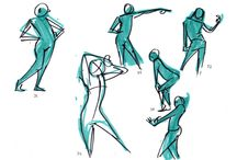 poses gesture drawing