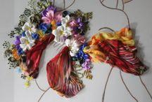 Decorațiuni din panglici de mătase