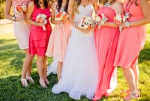 Peach + coral + salmon !  / Wedding inspiration in Coral, Salmon and shades of peach!