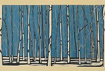 Hanga/Linocuts/woodcuts