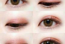 Make-up / 메이크업, 화장, 눈화장, 쉐도우, 아이라인, 눈, 눈메이크업, 아이메이크업, 뷰티, 무쌍, 유쌍, 쌍커풀메이크업