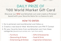 Worldmarket.com PIN IT Contest / by Melissa Strong
