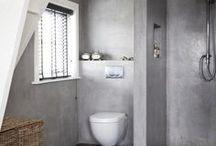 Terrastone paintings in Bathroom