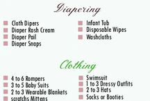 Baby list for baby stuff