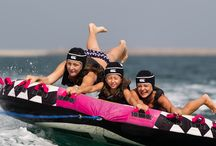 Tow sports / Have fun being towed on inflatables through the water!