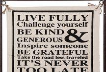 Witty stuff n wisdom / Sayings, wall art