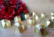 CHOCOLATE DIAMOND - diamante de chocolate / #chocolate #handmadesweet #diamond