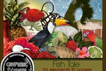 Scrapkits by Gimptastic Scraps / These digital download products are available at The PSP Project & are for personal use digital creations only.  / by The PSP Project