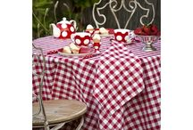 Summer / A colorful tablecloth will brighten any deck or patio