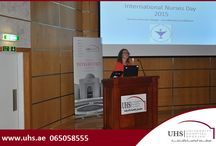 International Nurses Day celebrated at UHS / University Hospital Sharjah (UHS) recognized and celebrated the International Nurses Day by recognizing and honoring the life-changing impact the nurses have on patients and their loved ones, every single day. The international nurses' day theme for 2015 is Nurses: A Force for Change: Care Effective, Cost Effective.