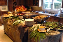 Buffet tablescapes