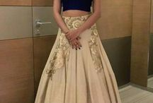 crop top and full skirt