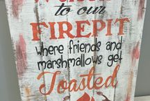 Fire pit Signs