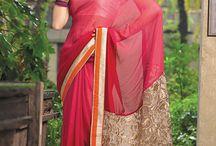 Sarees collections / Beautiful collection of Georgette, Net, Semi georgette, Chiffon jacquard, Cotton net, Chiffon, Viscose, Satin chiffon saree
