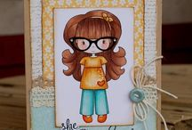 Cards_Girlfriend / Girlfriend theme cards using Whimsie Doodles digital stamps