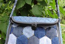 riflové patchworkové kabelky