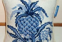 blue&white cross stitch