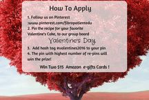 Valentine's Day Contest / Welcome To Our Thanksgiving Contest Group Board!  Pin your favorite cake recipe  for Valentine's Day,  add hashtag #valentines2016... The pin with highest number of re-pins will win $15 Amazon Gift Card! Contest ends on February 14th, 2016. THE CONTEST IS OVER - WE WILL ANNOUNCE THE WINNER SOON! tHANK YOU EVERYBODY