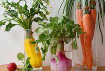 Vegetables, fruits, berries