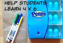 4's multiplication fact family / Tools and resources for teaching and learning the multiples of 4.