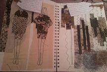 Fashion sketchbook inspiration.