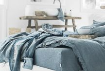 Blue linen bedding / 100% stone washed linen bedding - soft and pleasant to the skin!